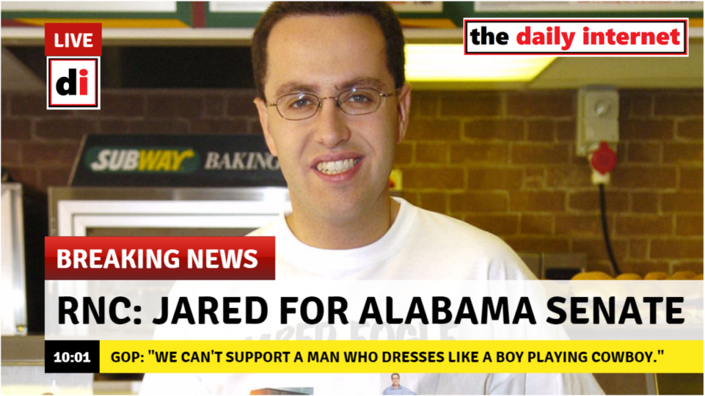GOP Dropping Roy Moore for Subway's Jared Fogle in AL Race
