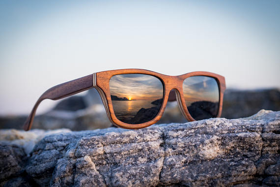 eco-friendly sunglasses made of wood